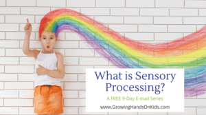 What is sensory processing? A FREE e-mail series to explain everything sensory!