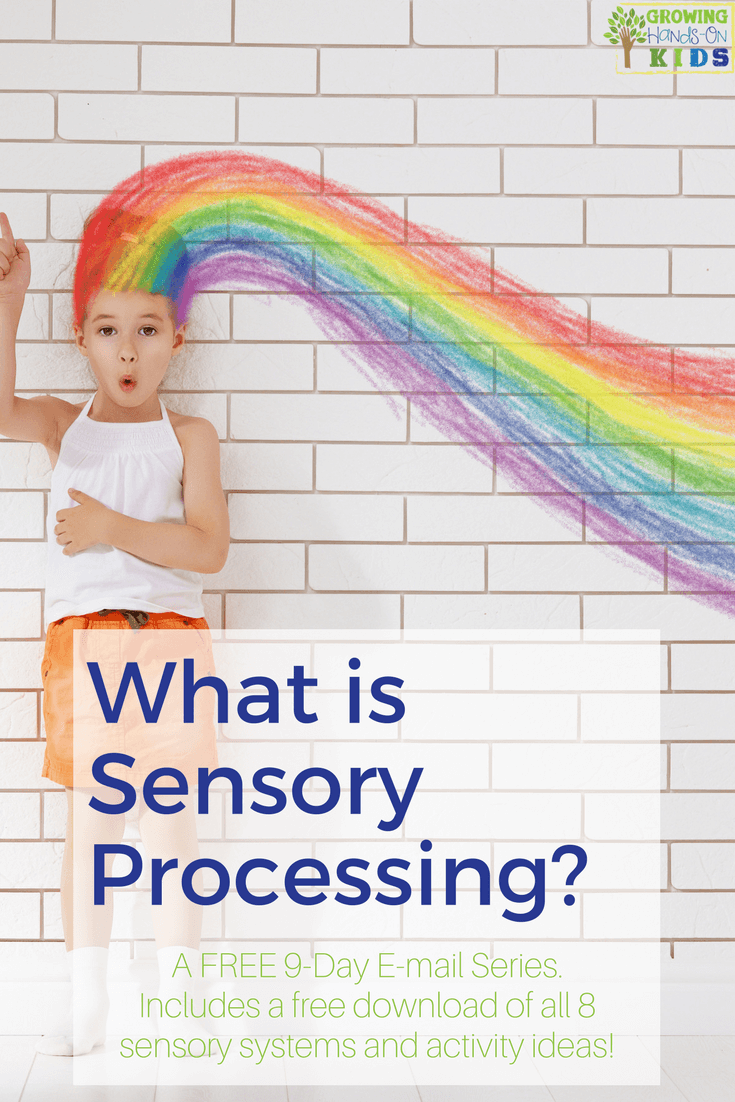 Find out all about sensory processing the 8 senses in this free e-mail series. Includes 8 free printable guides. #SensoryProcessing #SPD #Autism #OccupationalTherapy