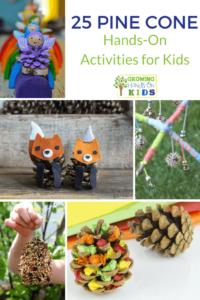 25 Pine cone hands-on activities for kids.