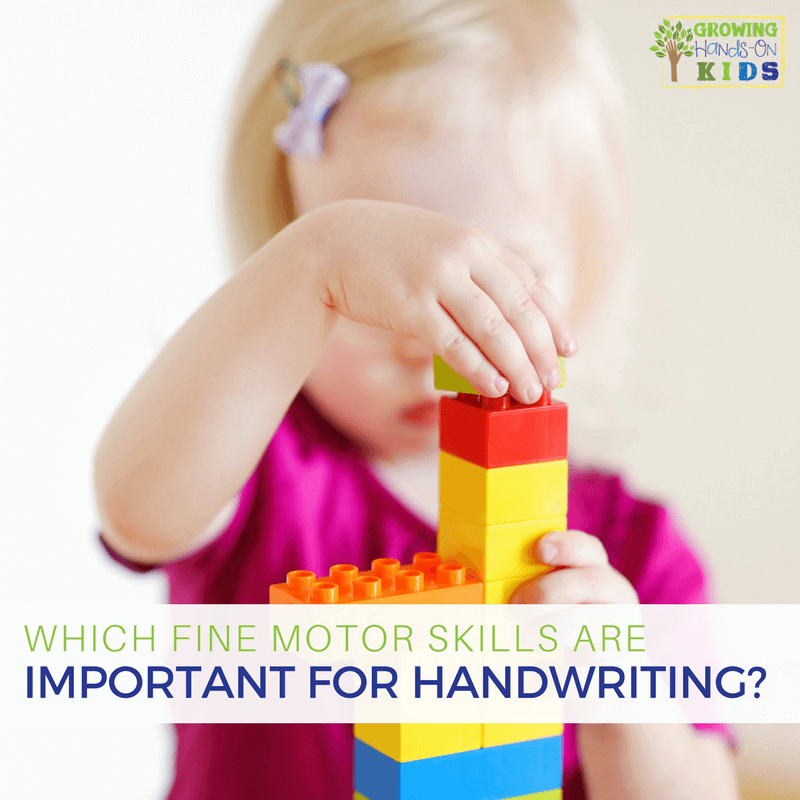Which fine motor skills are important for handwriting?
