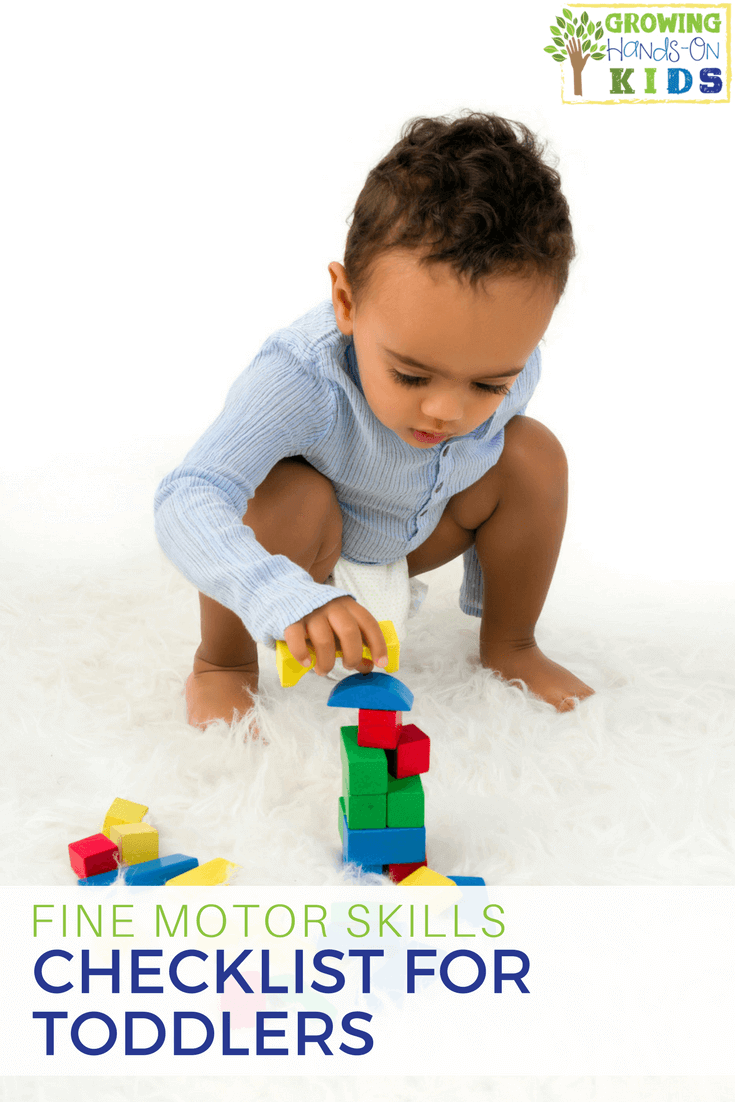 Fine Motor Skills Checklist for Toddlers