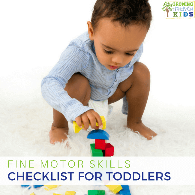 Fine motor skills checklist for toddlers 18 months 36 for Four year old fine motor skills
