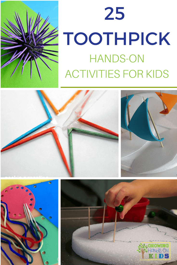toothpick hands-on activities for kids