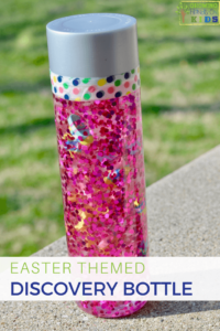 Easter Themed Discovery Bottle for kids.