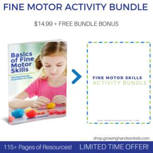Basics of Fine Motor Skills activity launch bundle