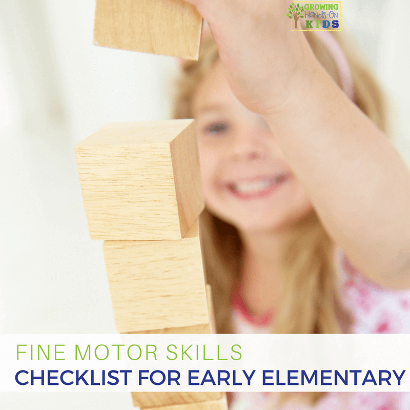 fine motor skills checklist for early elementary ages 6. Black Bedroom Furniture Sets. Home Design Ideas