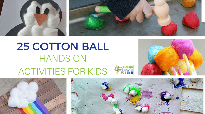 Cotton Ball Hands-On Activities for Kids