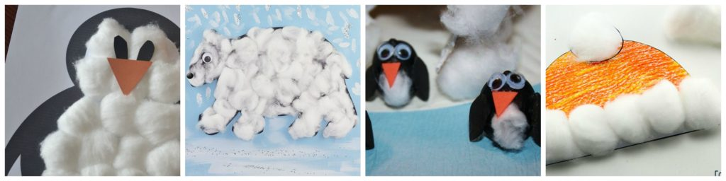 Cotton Ball Hands-on Activities for Kids Winter Crafts