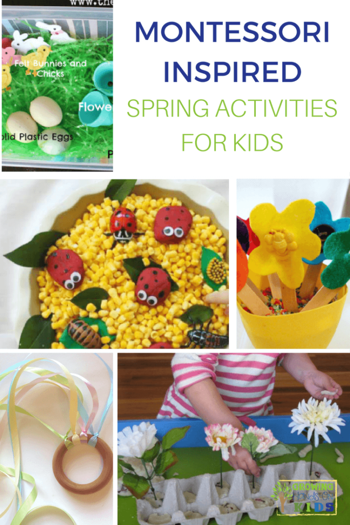 Montessori inspired spring activities for kids.
