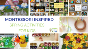 Montessori Inspired Spring Activities for Kids