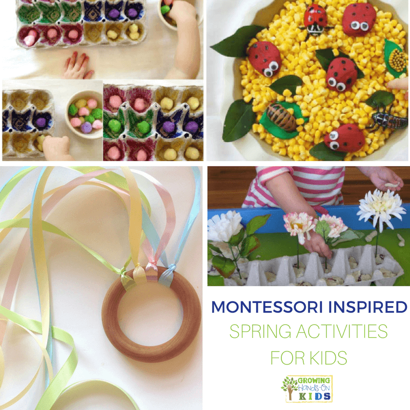 Montessori inspired spring activities for kids.