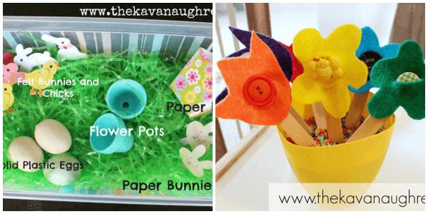 Spring sensory bin activities