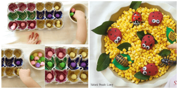Spring play dough activity