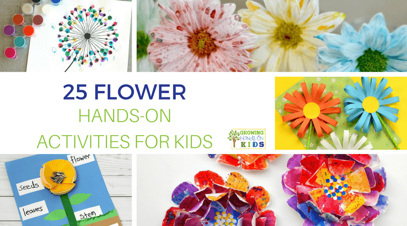 Flowers are everywhere this spring! I love the newness spring brings and this year my kids have been in love with the beautiful flowers popping up all over the place. It's a great time of year to share 25 Flowers Hands-On Activities for Kids!