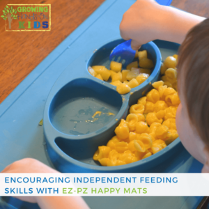 Encouraging independent feeding skills with EZ-PZ products.
