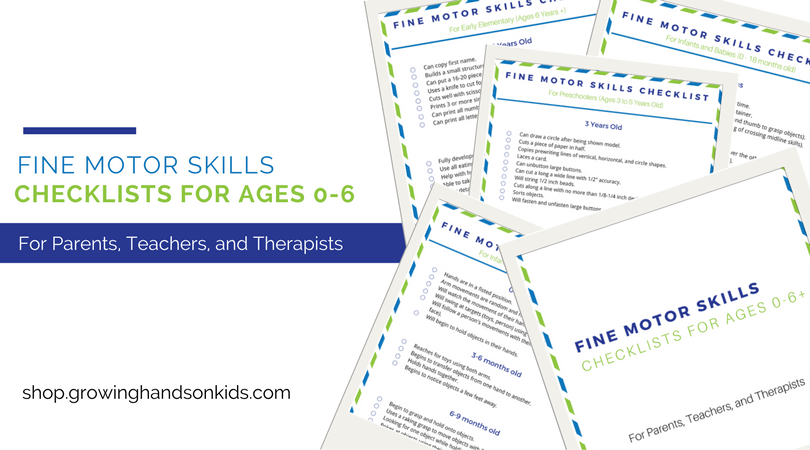 Fine motor skills checklist for ages 0 6 free download for Adhd and fine motor skills