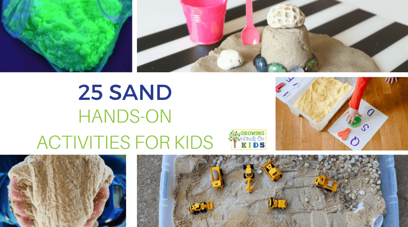 The beach and sand seems to be on everyone's mind! Why not make a learning experience out of the excitement of visiting the beach? Check out these 25 Sand Hands-on Activities for Kids and help little ones learn while they play this summer.