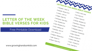 Letter of the Week Bible Verses for Kids – Free Printable