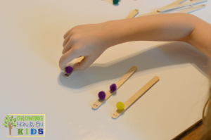 Pom-Pom Transfer Pincer Grasp Activity for Toddlers