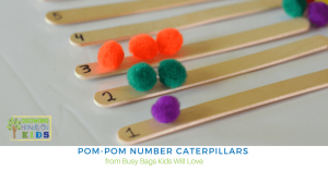 Pom-Pom Number Caterpillars – Busy Bags Kids Will Love
