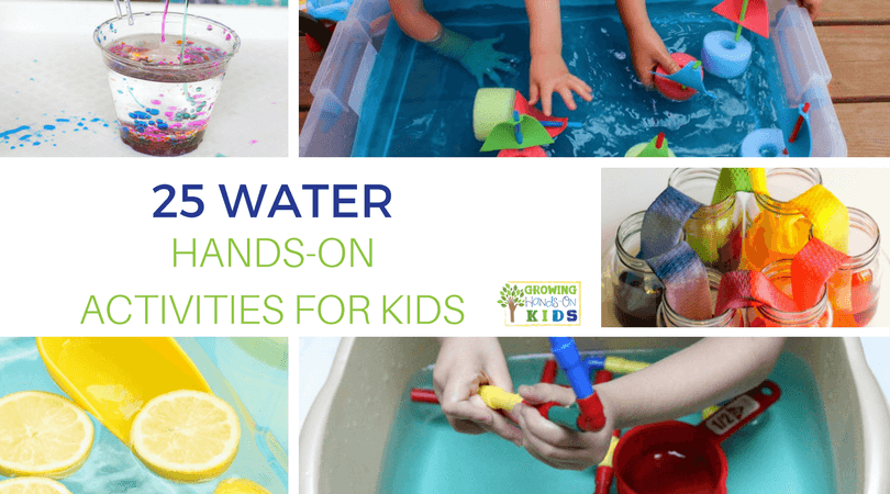 Beat the heat this summer with fun water activities! We love getting into the backyard and enjoying the cool water with lots of hands-on learning. Check out these 25 Water Hands-on Activities for Kids and help little ones learn while they play this summer.