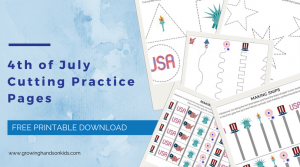 4th of July Cutting Practice Pages – Free Printable