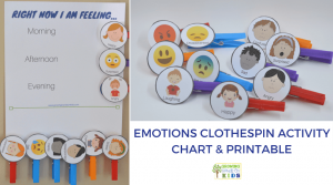 DIY Emotions Clothespin Activity Chart – Free Printable