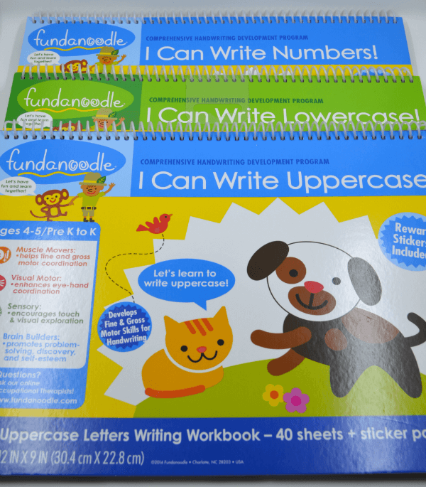 Fundanoodle I Can Write workbook series.