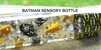 Batman Sensory Bottle for Sensory Play
