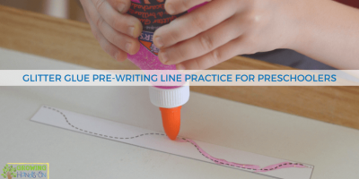 Glitter Glue Pre-Writing Line Practice for Preschoolers