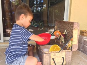 Fall themed sensory play ideas for kids.
