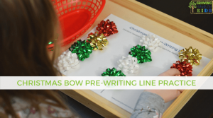 Christmas Bow Pre-Writing Line Practice + Includes a Free Printable