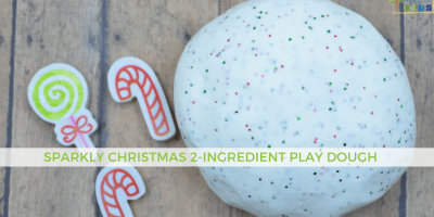 Sparkly Christmas 2-Ingredient Play Dough