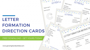 Letter Formation Direction Cards, a free printable download.