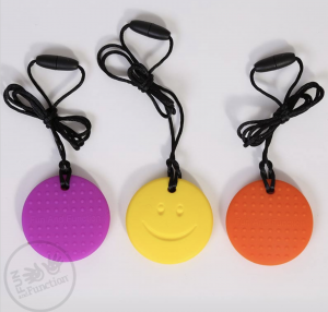 Happy Face Fidget Necklace from Fun and Function.