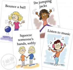 Visual Cards for Calming from Fun and Function.