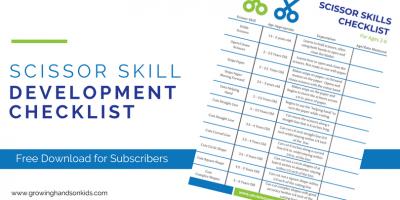 Scissor Skill Development Checklist for Ages 2-6