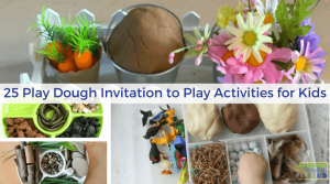 25 Play Dough Invitation to Play Activities for Kids