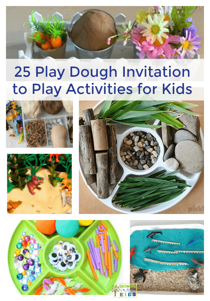 25 Play Dough Invitation to Play Themes for Kids.