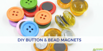 DIY Button and Bead Magnets for Hands-On Activities