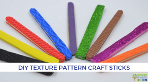 DIY Texture Pattern Craft Sticks