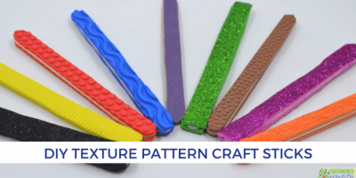 DIY Texture Pattern Craft Sticks