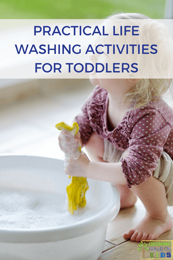 Practical Life Washing Activities for Toddlers. Montessori Inspired activities at home. #PracticalLife #MontessoriInspired #MontessoriAtHome #ActivitiesofDailyLiving #OccupationalTherapy
