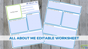 All About Me Editable Worksheet for Special Needs Families