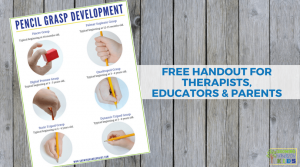 Pencil Grasp Development Handout