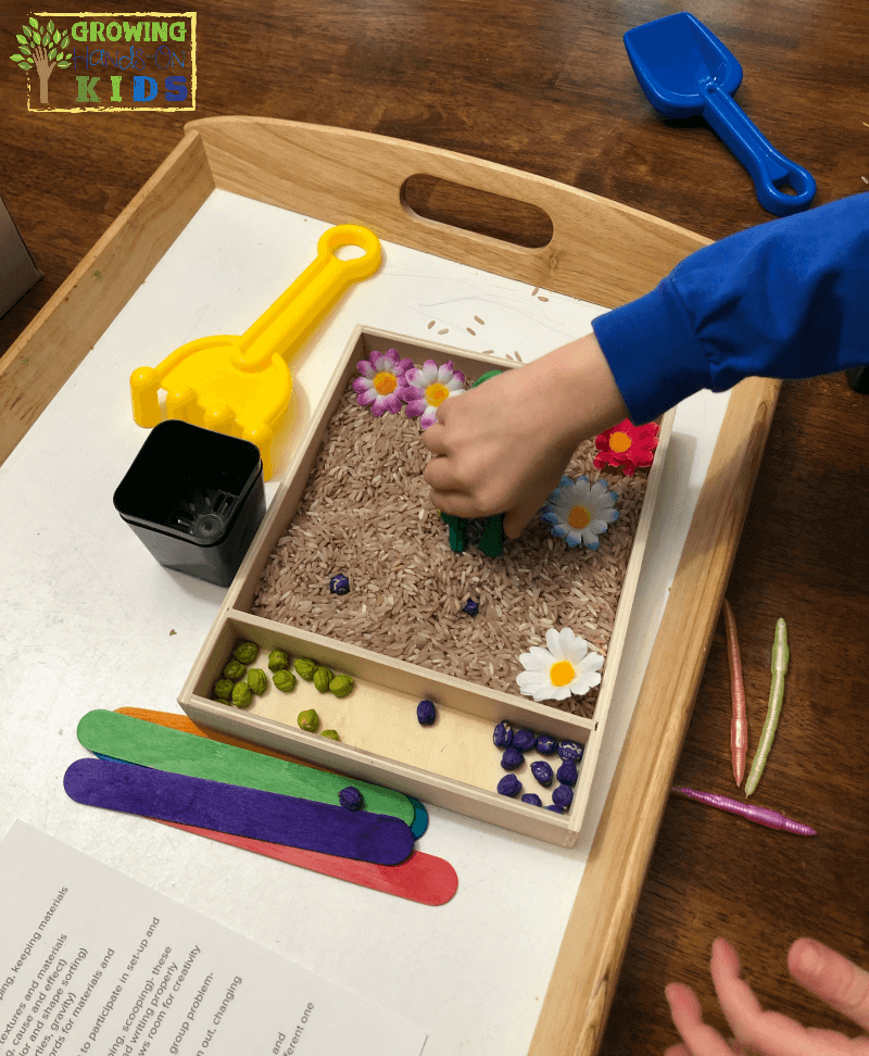 Importance of Messy Play with Messy Play Kits, gardening kit.