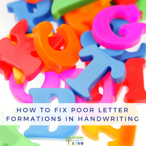 How to Fix Poor Letter Formations in Handwriting.