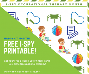 I-Spy Occupational Therapy Month Free Download
