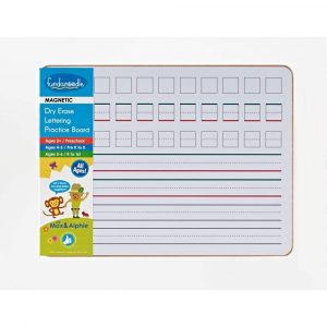 Magnetic dry erase practice board from Fundanoodle