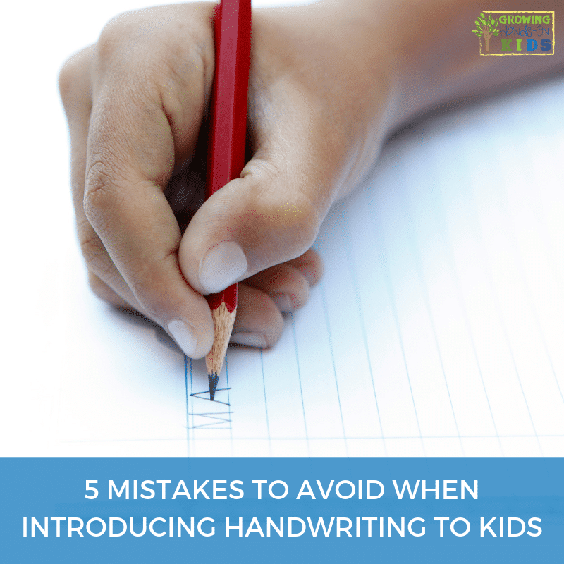5 mistakes to avoid when introducing handwriting to kids.